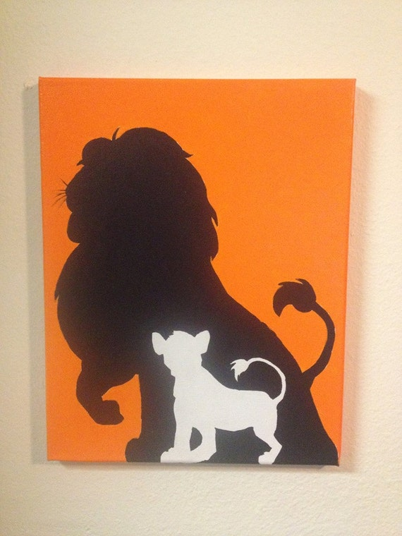 Disney lion king silhouettes