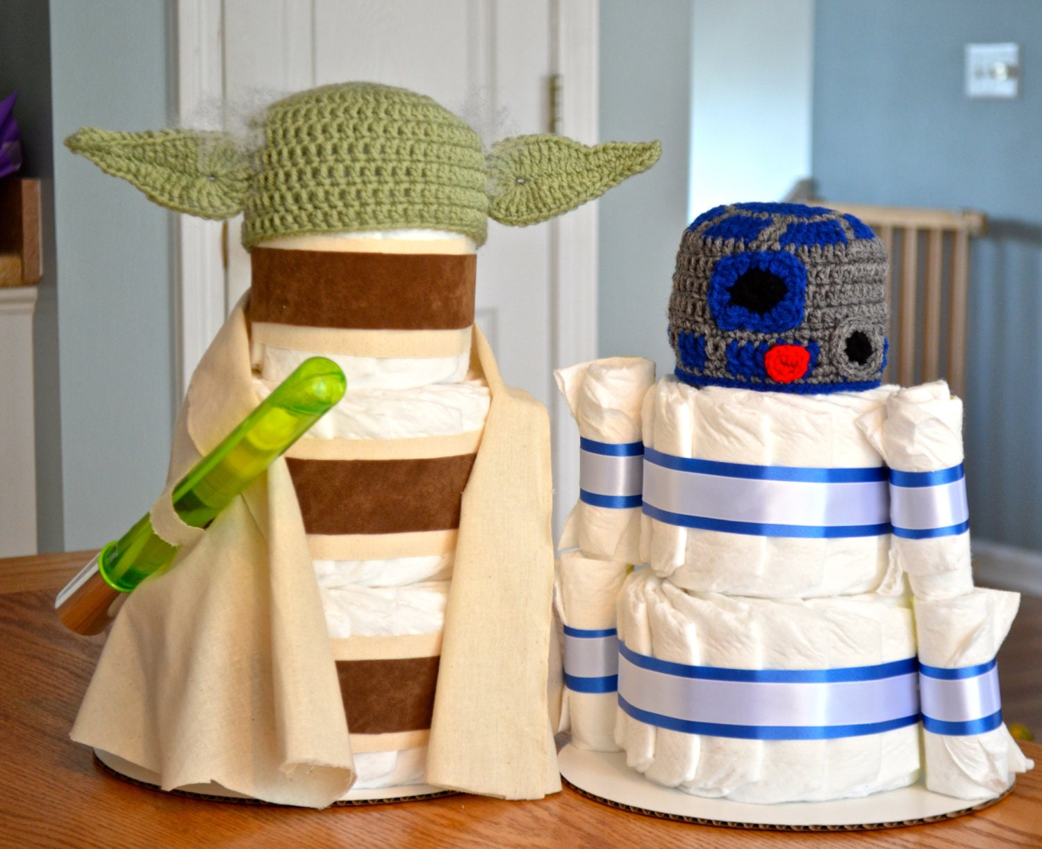 star wars baby shower yoda r2d2 princess by julies2cutecreations