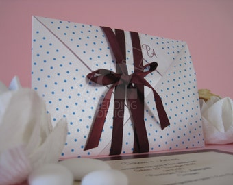 100 wedding invitations Geneva Pearl paper handmade and fully customizable, even with a design on request