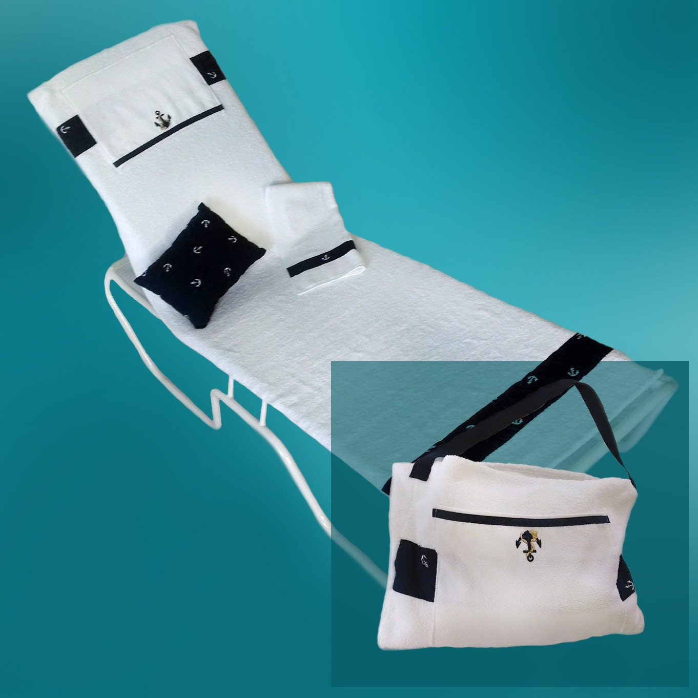 Like this item? - Lounge Chair Cover. Converts To A Beach Or Pool Tote Bag