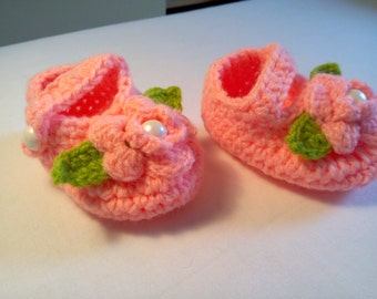 Crochet Mary Janes 0 to 3Mths