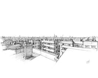 London Skyline (south to north) - Limited edition archival print