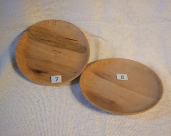Two Birdseye Maple plates # 7&8
