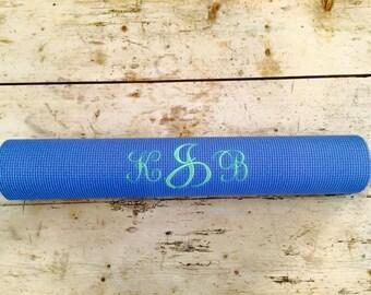 Monogrammed Custom Embroidered Yoga / Pilates Mat