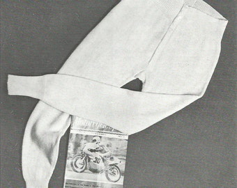 Vintage Men's Thermals Long Johns, Vest And Body Belt Knitting PDF Pattern