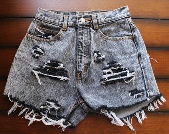 High Waisted Shorts Destroyed Jordache