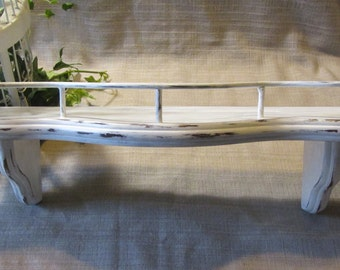 Lovely, Upcycled, Solid Wood, Shabby Chic, French Country, Beach Cottage, Country Farmhouse, Wall Shelf, Plate Rack,
