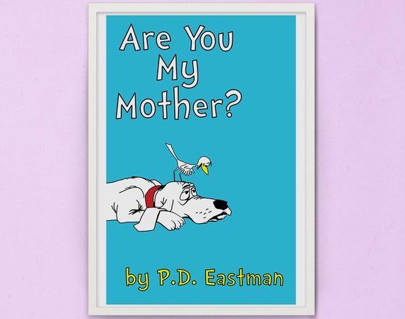 Children S Book Covers To Print : Are you my mother children book cover print by
