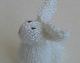 Knit Bunny Rabbit - white