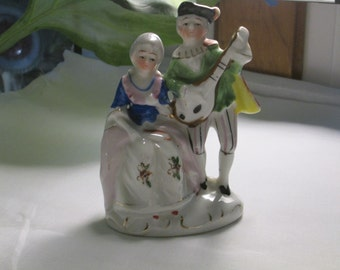 OCCUPIED JAPAN 1940's Hand Painted Victorian Italian Dress Figurines