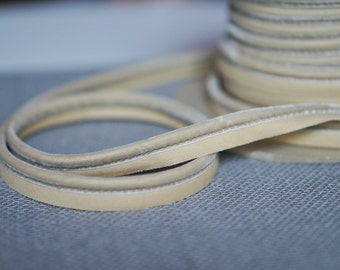 Suede Off White Cording 1/2 inch wide