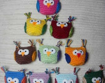 B, Raúl HOS crochet-Crochet crochet-Owls-owls Hiboux