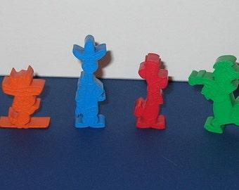 Vintage group of 4 Hanna Barbera Plastic figures