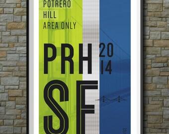 SF Muni Poster: Potrero Hill