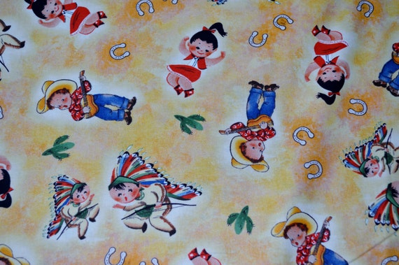 Vip exclusive rocking horse ranch 100 cotton fabric with for Horse fabric for kids