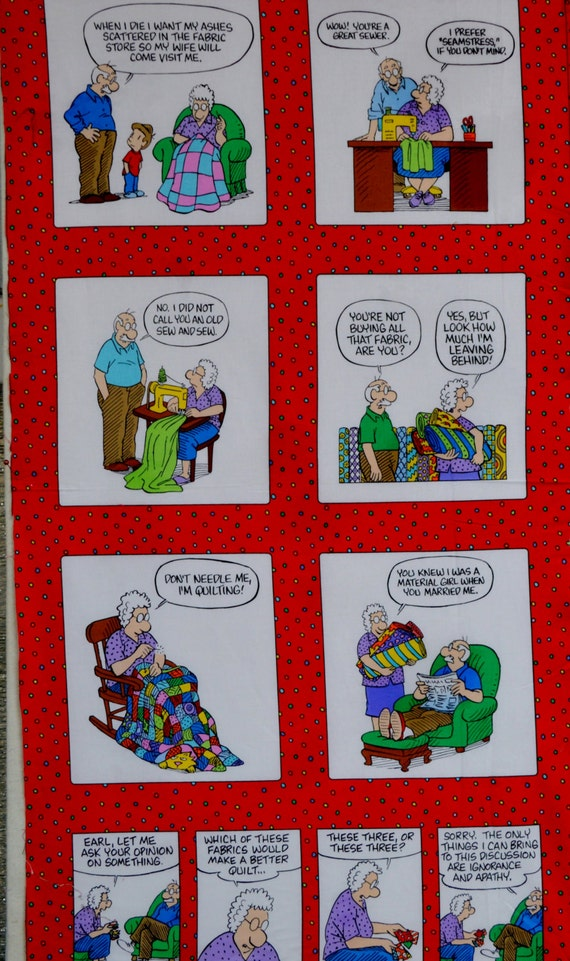 Timeless Treasures Pickles Brian 100% cotton fabric panel, with pickles cartoon chracters. ~25