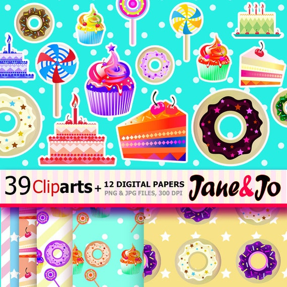 Coupon For Cake Art : 39 Dessert Clip Art 12 Digital PaperCupcake