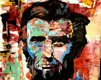 Abraham Lincoln 16x20 Original Abstract Painting