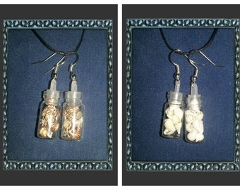 Shell vial earrings