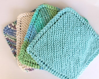 KNIT / Dish Cloth Cotton Face Cloth Wash Cloth Kitchen Cloth