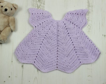 ripple crochet top angel top to fit  baby 3mths - 9 mths
