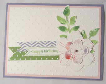 Layered Flower Birthday Card