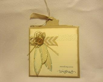 Telescoping Feather Birthday Card