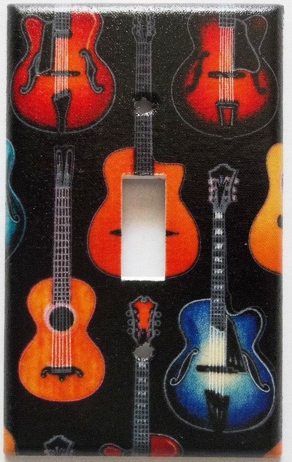 Guitar instrument man cave home decoration by chriscraftiedecor - Guitar decorations for bedroom ...