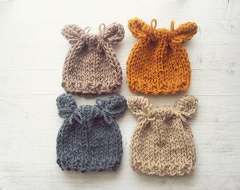 Cute Newborn Boy Knit Hat / Newborn Photo Props / Baby boy Hat / Baby girl Hat