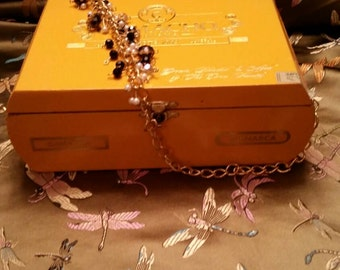 Camacho yellow cigar box purse