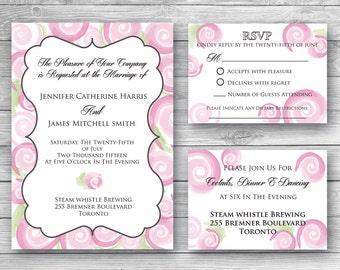 Mia Wedding Invitation Set - Digital Download