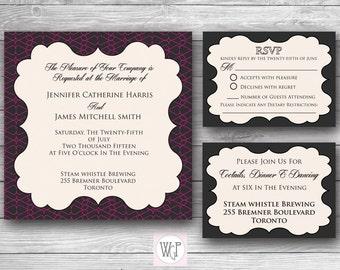 Zoe Wedding Invitation Set - Digital Download
