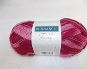 Sundance Frill Raspberry Delight Sashay Yarn, Ruffle Yarn, Novelty Yarn, One Skein Scarf Yarn, Shades of Pink Sashay Yarn