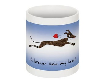 Mug with fun lurcher design!
