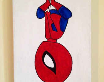 Hanging Spider-Man