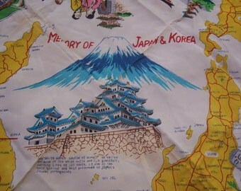 Military Silk Scarf In Memory Of Japan And Korea