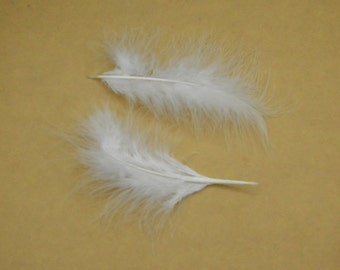 50pcs Feather,turkey Feather,White Feather,white Craft Feathers,Loose Feathers, Wholesale Feathers  about 6 inches