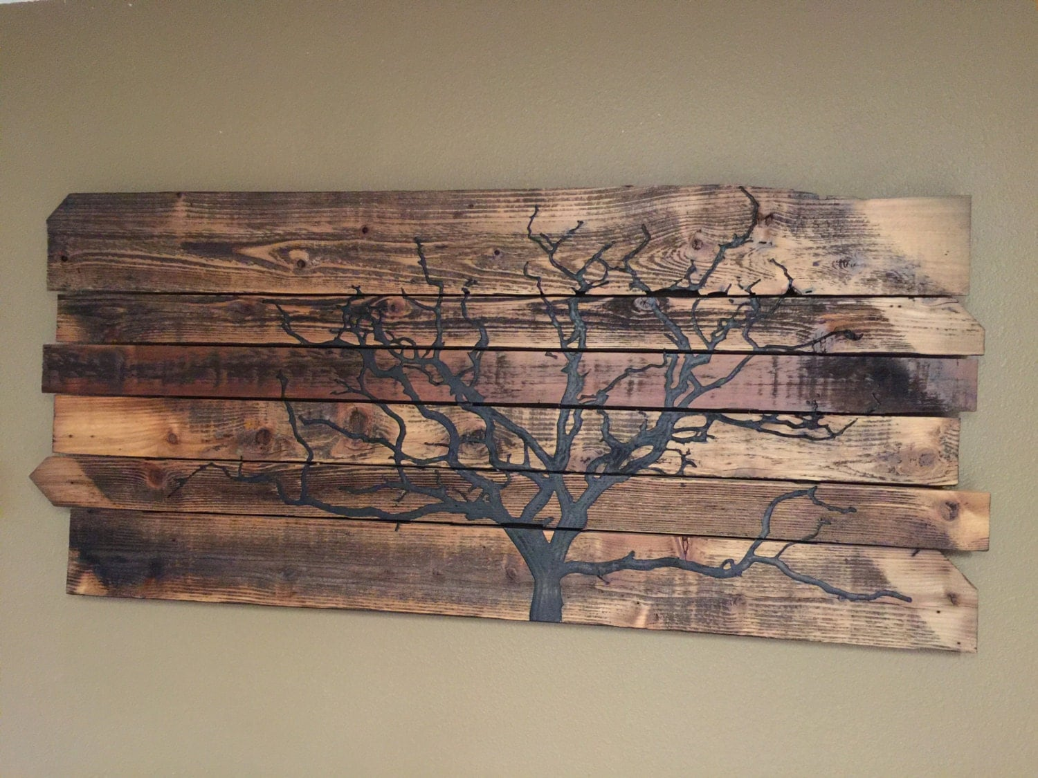 Reclaimed wood wall art wooden wall hanging outstanding for Reclaimed woods