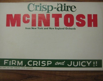 Crisp-Aire McIntosh Apples Point-of-Purchase Sign, 1950s