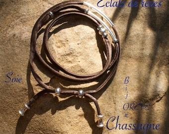 Silk multi strand bracelet