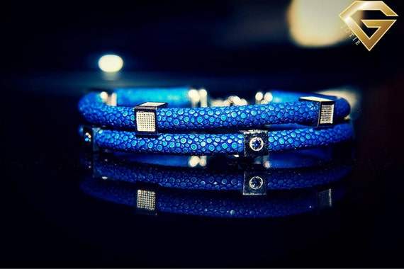 Luxury Genuine Stingray Leather Bracelet