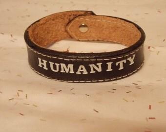 Humanity Leather Bracelet