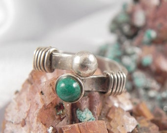 Jade Sterling Modernist Ring