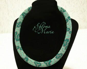"Bead Crochet Necklace ""Kimono"""
