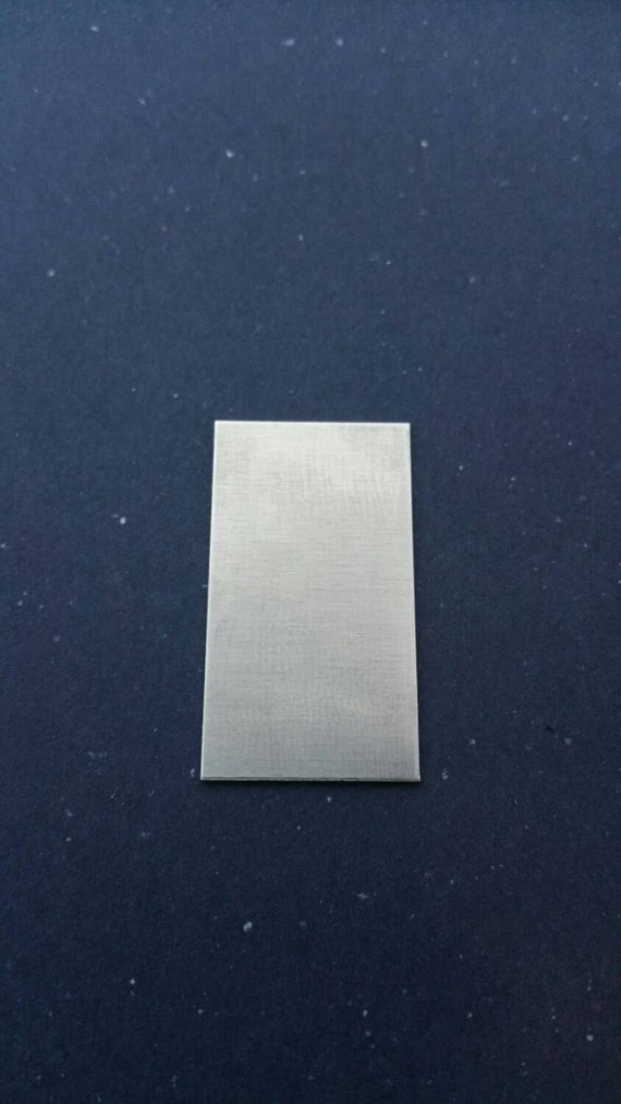 """3/4"""" x 1 1/4"""" 18g pewter stamping blank SETS OF 3,  pendant, tag, jewelry, for etching, metal supply shop, jewelry supply, hand stamping"""