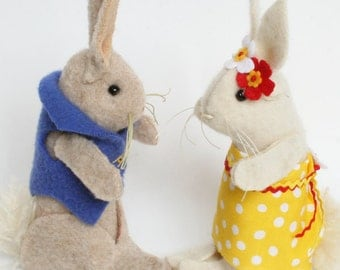 Woolly Rabbits - Spring couple
