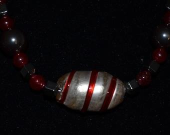 Red Quartz with Hematite