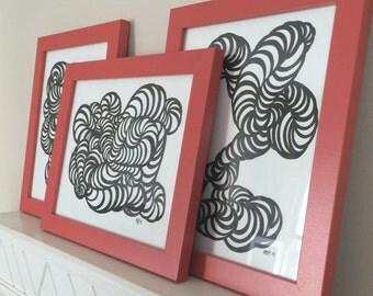 Curls (Medium) Illustration set