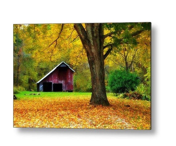 Red Metal Wall Decor: Metal Wall Art READY To HANG Red Barn FEATURED By HouseOArt