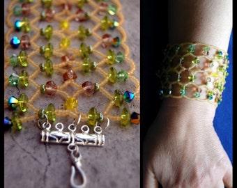 bracciale rete di perle